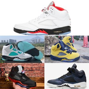 2020 Top High Basketball Shoes Men Retro fashion 5s aj Sports Comfortable Breathable Outdoor Nakeskin
