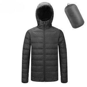 chaud capuche en coton hiver d'homme ultra mince veste veste légère vers le bas Doudoune homme de TJWLKJ