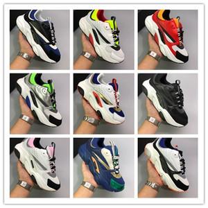 Neues Netz Breath Thick Sole beiläufige Schuh-Triple-Weiß Schwarz Laufschuhe für Herren Damen Luxuxentwerfer Homme B22 Art und Weise Sports Sneaker