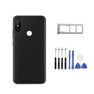 Для Xiaomi Redmi 6 Pro / Mi A2 Lite Задняя крышка батарейного отсека Корпус задней двери + Боковой ключ-карта Держатель лотка Запасные части