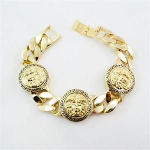 Medusa Head Alliage Bracelet Carré 3D Impression Alliage Bracelet Or Bijoux Rendez-vous Partie Sport Accessoires Anniversaire Cadeaux