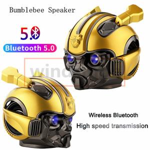 Bumblebee Helmet Bluetooth Speaker Fm Radio Usb Mp3 TF Smart Subwoofer Blue Tooth 5.0 Portable Mini Wireless Stereo Loudspeakers