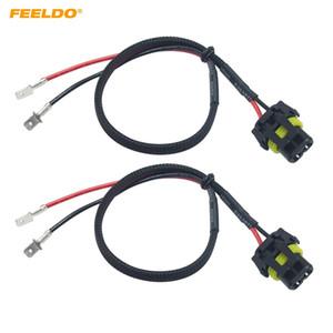 FEELDO 2PCS 자동차 12V 35W 55W 자동 HID 변환 키트 제논 램프 전구 전원 와이어 하네스 여성 플러그 코드 H1 HID 키트 전원 케이블 # 5976