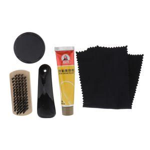 5pcs Shoe Polish Shoes Care Set Travel Kit Cleaning Brush Shoe Cleaning
