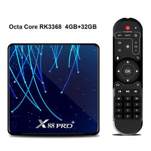 X88 PRO PLUS Android 9.0 TV BOX RK3368 Octa Core 2.4G 5G WiFi Bluetooth VS T95Z PLUS H96 PRO 4GB 32GB