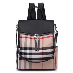 Vintage tarzı naylon ızgara sırt çantası / Toptan kaliteli en çok satan dayanıklı çift omuz çantası naylon okul sırt çantası
