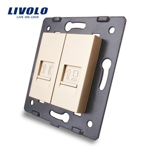 Manufacture Livolo,Wall Socket Accessory, The Base of Telephone,Computer Socket,TV ,sound,video,microphone Outlet ,golden color
