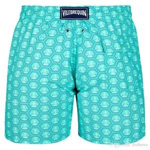 Vilebre Marca Consiglio Shorts Bermuda Vilebre Turtle dell'uomo di stampa Boardshort 100% Swimwear veloce Uomini Dry fzw1721