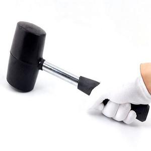 Elastik olmayan siyah kauçuk çekiç aşınmaya dayanıklı karo yuvarlak kafa ve kaymaz kolu DIY el aracı