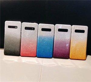 Luxus harter PC + weiche TPU Fall für Iphone 11 Pro XR XS MAX X 8 7 6 S10 S10e Anmerkung 10 Bling 3 in 1 Hybrid Layer-Schein-Glitter Gradient-Abdeckung