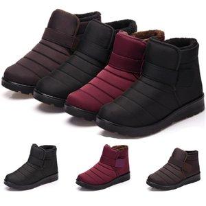 2019 Winter-Freigabe Vollständiger Verkauf warme Schneeschuhe für Männer Frauen Paare und flauschigen lila wasserdichte Baumwolle frei versendenden Schuhe Größe 35-46