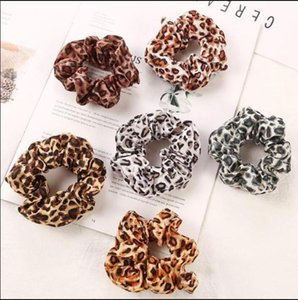 Girls Leopard Scrunchies for Hair Animal Print Chiffon Scrunchy Hair Cheetah Scrunchies for Hair Elastic Bobbles Ties Bands Scrunchie