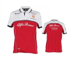 Nouveau Lapel Polo T-Shirt Alfa Romeo Racing Costume manches courtes revers à manches courtes T-shirt ronde costume col Racing