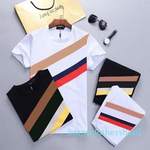 New Designer Summer Mens способа вскользь костюмы Марка FFFF Письма Печать контракта Цвет футболки с Summer Beach Shorts Vacation Style