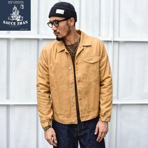 SAUCE ORIGIN 901-A Truck Jacket Vintage Jacket Canvas Jackets Men Casual Cotton Slim fit Mens Coats and Jackets