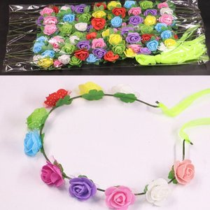 10 10 Pcs pack Baby Kids Head Flower Colorful Colored Light-Emitting Luminous Toys Girls Boys Wreath Garlands Headband for Party