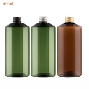 20pcs 500ml green Plastic Refillable Bottle with Aluminum Cap Shower GEL Hand Washing Container Makeup Storage Container Tubes