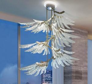 Ailes d'ange Modeling fenêtre Salon Loft Restaurant Chambre Villa italienne Postmodern Nordic Simple Lustre pendentif Lampes Lumières MYY