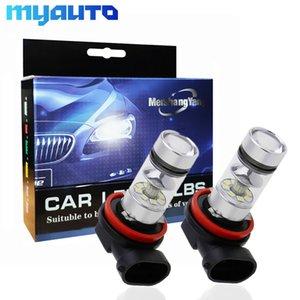 2Pcs 100W H8 H11 Высокая яркость светодиодные лампы Противотуманные фары SMD Driving Tail Lamp автомобиля Источник света парковки 1250LM 12V-24V Авто 6000K Белый
