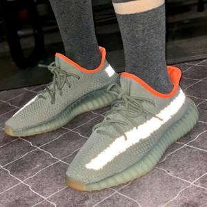 2020 Desert Sage Clay Sésame véritable forme Hyperspace Hommes Femmes Chaussures de course Kanye West Beluga 2.0 orange Bred V2 sport Chaussures de sport size36-46