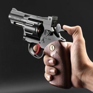 Envío gratuito pequeña luna revólver pistola de bala de agua niño simulación Manual agarrar extraíble metal modelo niño pistola de juguete