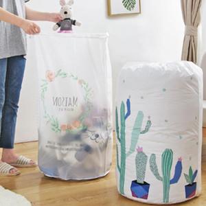 Drawstring Bag portátil impermeável agrupados colcha de algodão Sacos grande capacidade de armazenamento Bag Dormitório lavandaria saco de armazenamento bolsa YPP155