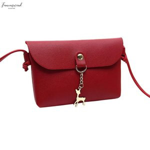 Handbags Women Bags Designer Womens Vintage Pu Small Deer Pendant Pu Eather Plain Crossbody Shoulder Bag