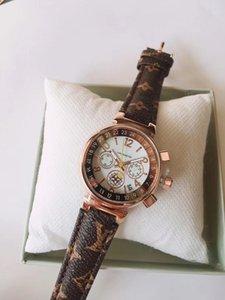 2020 nuevas mujeres de lujo de pulsera superior de la manera Número de marca Diseño de las mujeres del dial del reloj del vestido LetterLV caliente de la venta del reloj Relogio Masculino