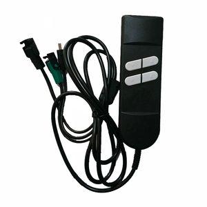 4 pulsanti di comando manuale a distanza per confortevole per massaggi seggiovia reclinabile Divano elettrico motorizzato regolabile Bed Base capo piede Incline Up