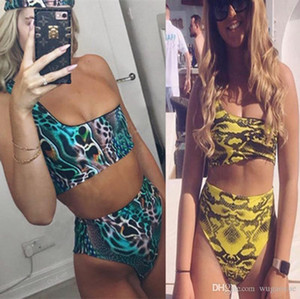 XREOUGA Bademode 2019 Sommer Neuankömmling One-Shoulder-Bikini-Anzug Serpentine für Frauen Sexy Biquni Beachwear