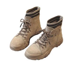 Martin botas de estilo británico de 2019 nuevos apuestos netos de algodón zapatos de cuero rojo salvaje del otoño de las mujeres botas de invierno corto, además de terciopelo