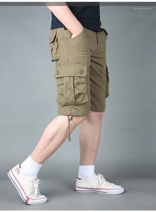 Hosen Relaxed Plus-lose-Mode-Männer Shorts beiläufige Multi Pocket Mens Hosen-Sommer-Breathable Designer Herren