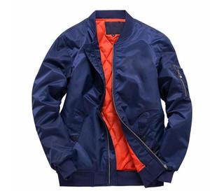Rivestimenti di modo caldo per gli uomini Bomber Jacket Nasa Frangivento Autunno Inverno cappotti caldi Outwear cotone imbottito soprabito Big Size