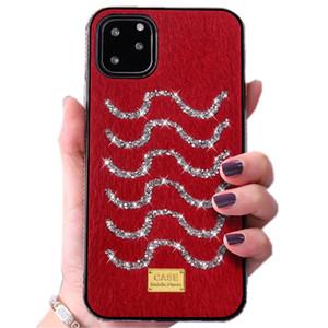 Onda do mar caso de telefone celular designer para iphone 11 pro xr x xs max 8 7 6 mais SE 2020 strass luxo bling bling do brilho da tampa do caso shinning