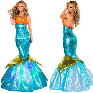 Halloween Mermaids Sexy Theme Costume Adult Skinny Long Womens Dresses Fashion Festival Party Clothes