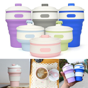 Coffee Mugs Travel Collapsible Silicone Portable tazas for Outdoors Camping Hiking Picnic Folding Office Water Cups