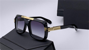 New popular men German designer sunglasses 663 square retro punk printed frame sunglasses fashion simple design style
