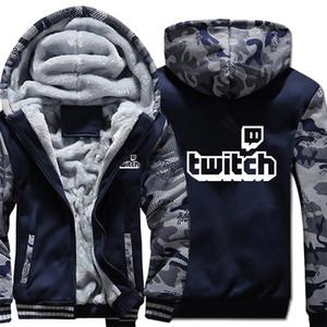 Twitch Manche hiver Sweats à capuche camouflage veste à manches hommes Polaires Twitch Sweat