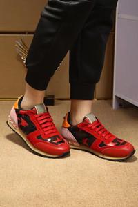 Neue heiße [Original Box] Fashion Rock Runner Sneaker Camouflage Leder Freizeit verzierte Männer Sport Perfect Rock Runner Outdoor-Männer-Trainer