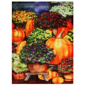 28''x40 «» тыквенные Мамы Fall Garden Flag Сезонное Yard Баннер Осеннее DecorationsThe флаг имеет рукав отверстие для флагшток.