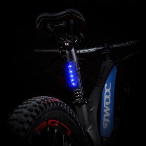 Mini Bike Feu arrière USB rechargeable LED Taillight 5 LED étanche cycliste VTT Route Feux arrière à vélo Sécurité de la lampe