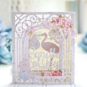 Grand Arch 3D Carte Découpes De Découpe En Métal Découpes Gravés 3D Vignettes Collection Élégante Pour DIY Scrapbooking Carte De Papier Décor Artisanat