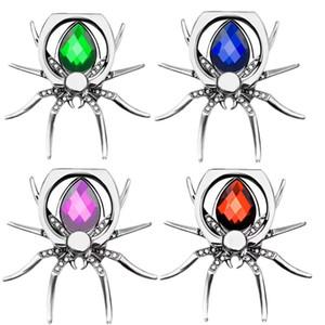 Lüks Örümcek Bling Parmak Yüzük Tutucu 360 Döndür Telefon Stent Elmas Cep telefonu tutucu iphone xs max için standı