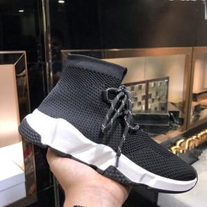 Zapatillas de deporte de zapatillas de deporte de los hombres Zapatillas de deporte para mujer Zapatos planos de cordones de diseño Zapatillas de deporte de lujo Zapatillas de deporte ligeras de alta velocidad con caja
