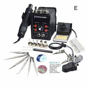 Pantalla Eruntop 8586D + Digital Doble 2en1 estación de la reanudación de la soldadura eléctrica Irons + Pistola de aire caliente SMD 8586 actualizado 8586D hwjw #