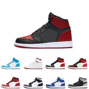 TOP 1s Mens basketball shoes Chicago OG 1 bred banned Royal Blue Backboard sports sneaker designer trainers size us 7-12