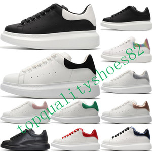 Erkek Kadın Sneaker Kalın Dip Beyaz Siyah Kırmızı Mens Eğitmenler Günlük Ayakkabılar Boyutu 36-44 için 2020 Moda Kadife Lüks Tasarımcı MQ Ayakkabı