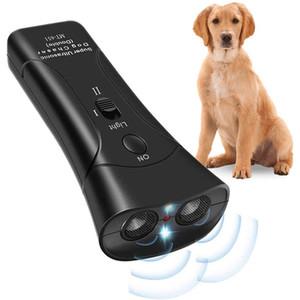 1 안티 짖는 초음파 애완 동물 개 펠러 안티 짖는 중지 껍질 훈련 장치 트레이너 LED 초음파 3