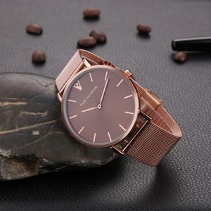 Elegante Nova Alta Qualidade de Luxo de Cristal De Diamante Relógios Mulheres Relógio de Ouro Faixa de Aço Subiu de Ouro Espumante Vestido Relógio de Pulso Navio Da Gota