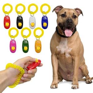 Remoto Universal Animal Portátil Botão Do Cão Clicker Sound Trainer Formação Pet apito Ferramenta de Controle de Banda de Pulso Acessório Nova Chegada